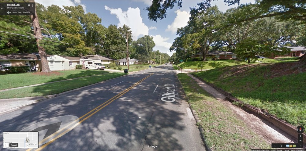 Gilbert Drive Before (Source: Google Maps)