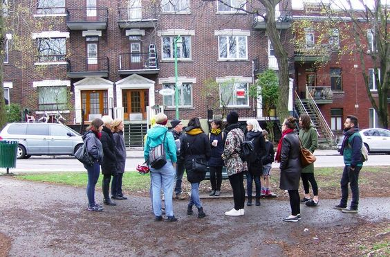 "Strong Towns member Zvi Leve leads a ""Jane's Walk"" inspired by Jane Jacobs in Montreal. Read more about his story here."