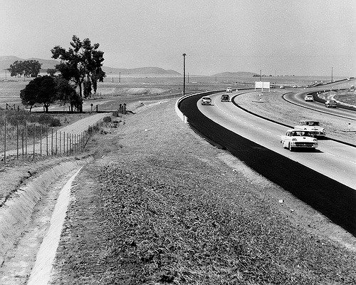 I-5 in California in the late 1950s (Source: Orange County Archives)