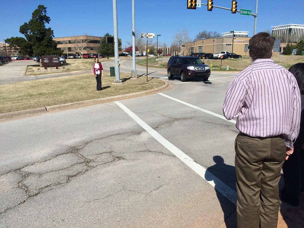 Well, at least they got a crosswalk... (Photo by Sarah Kobos)