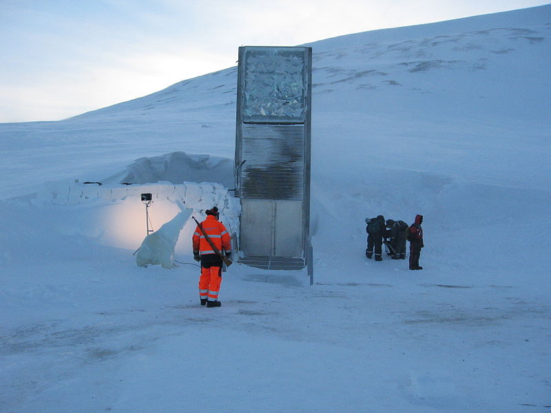 The Svalbard Global Seed Vault (Photo by Dag Endresen)