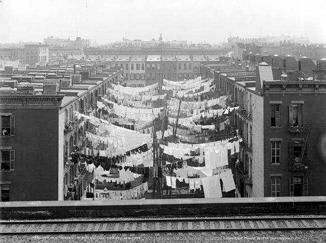 Tenement apartments in New York City, circa 1900. (Source:  Detroit Publishing Co )