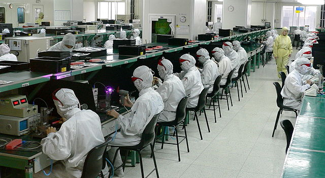 An electronics factory in Shenzhen (Source:  glue works )