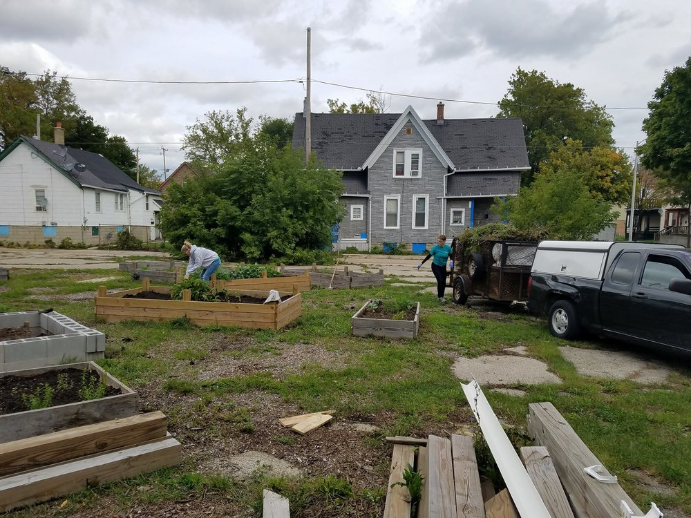 Urban gardens in progress in Milwaukee (Source: Groundwork Milwaukee's Facebook page)