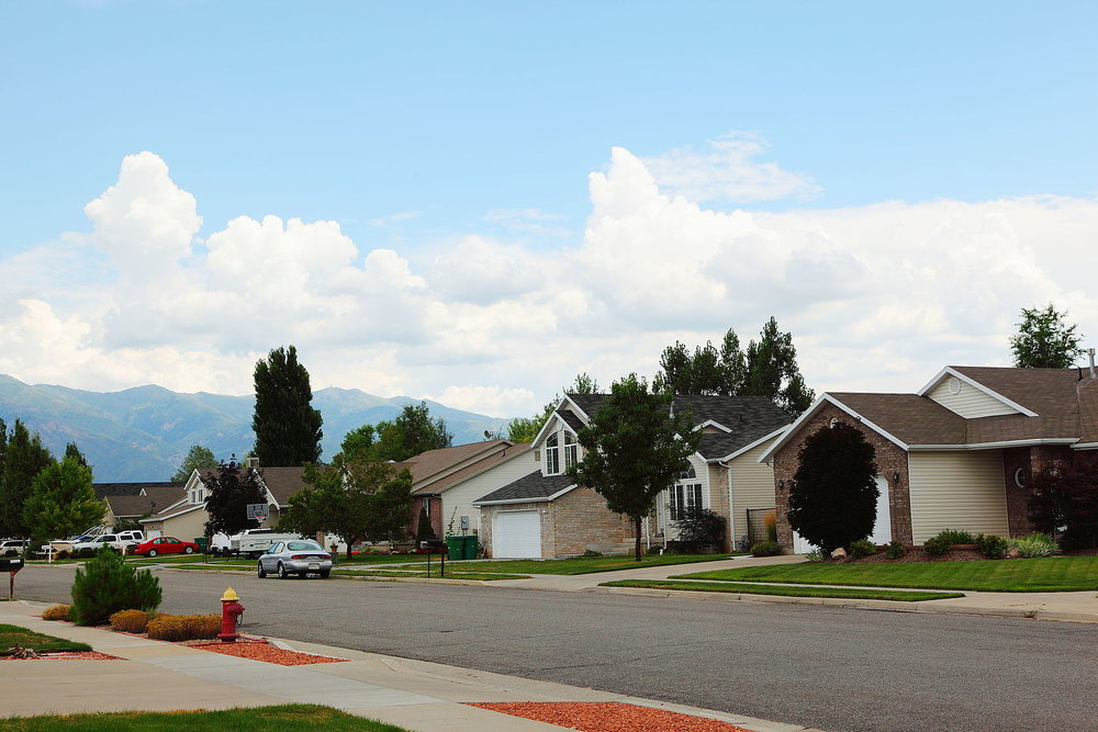 Suburban neighborhood in Layton, UT (Source:  Pink Sherbet Photography )