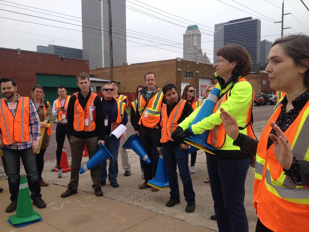 A traffic calming workshop at the 2017 Strong Towns Summit in Tulsa, OK (Source: Rachel Quednau)