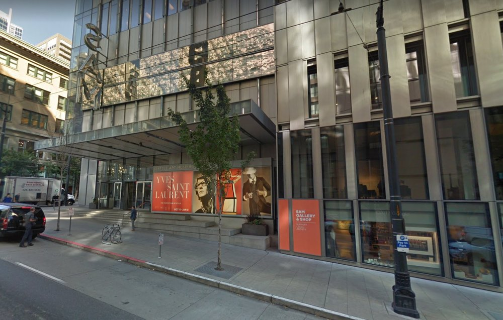 The Seattle Art Museum does a nice job of seamlessly connecting with the street through windows and an inviting, clear entrance. (Source: Google Earth)