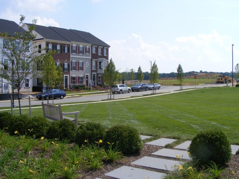 "A ""pocket park"" in Clarksburg. (Image by the author.)"