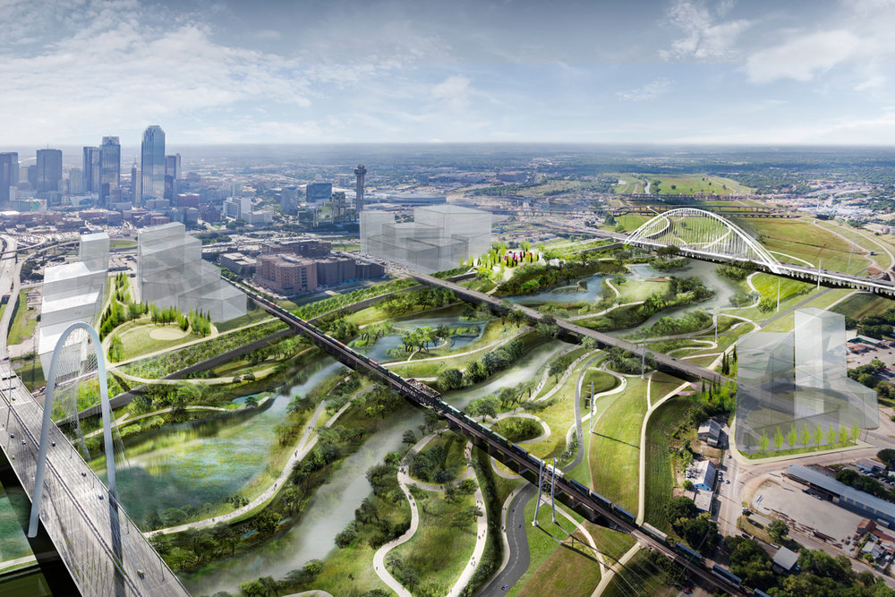 In Dallas: A park instead of a highway. (Source: Trinity Trust Foundation)