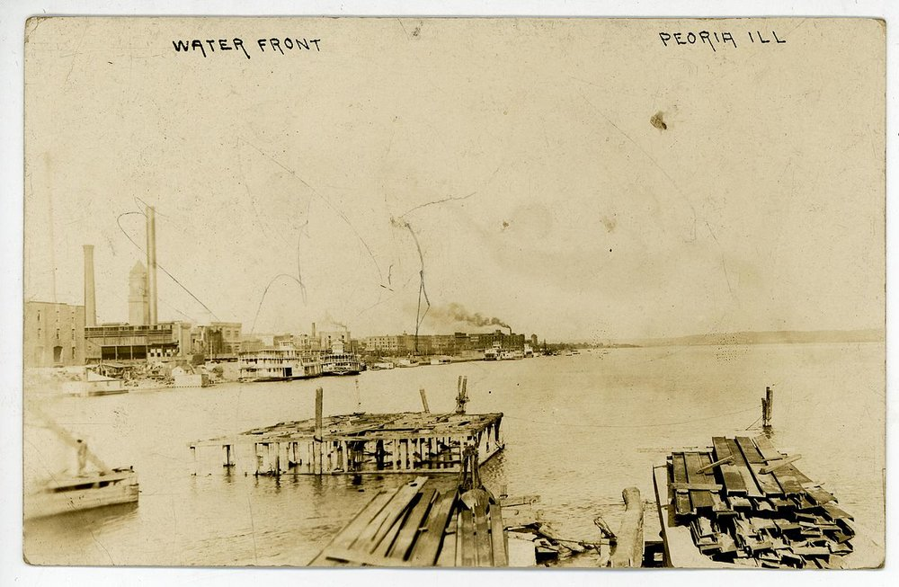 The Peoria waterfront in 1909