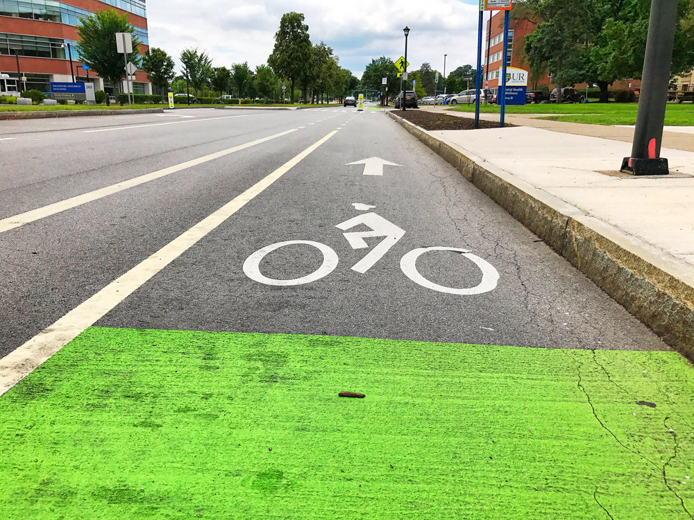 Bike Lane along Crittenden Blvd.