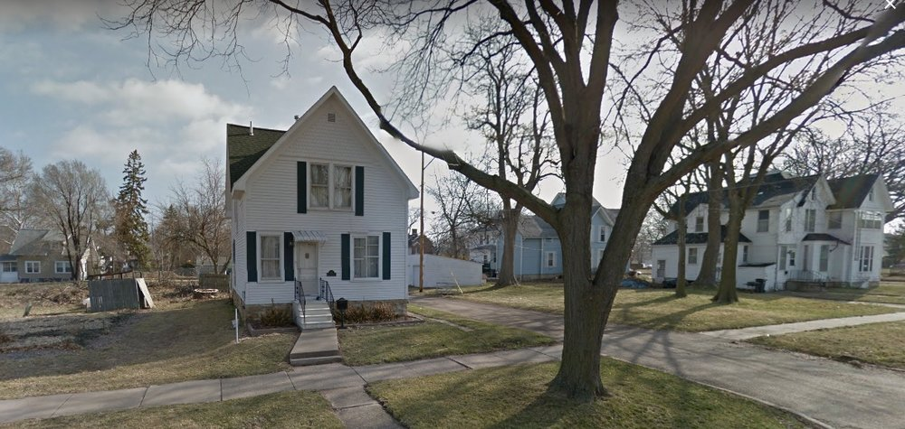 Grant Wood lived here. (Source: Google Earth)