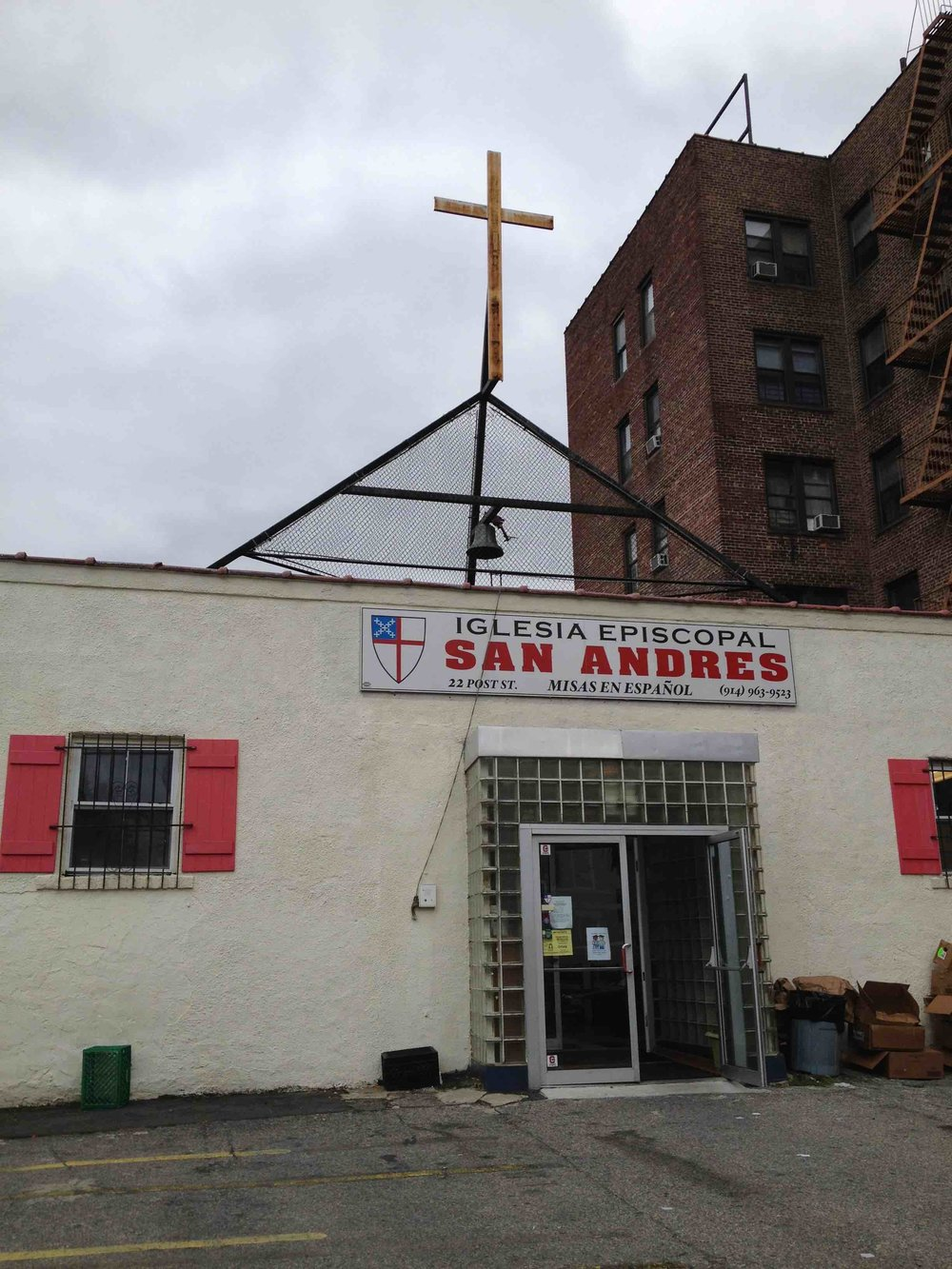This small church I worked with in Yonkers, NY lives in a former gas station. Talk about creative use of space. The building is essentially one large room, which the church subdivides and alters over the course of a week to facilitate different needs. (Source: Rachel Quednau)
