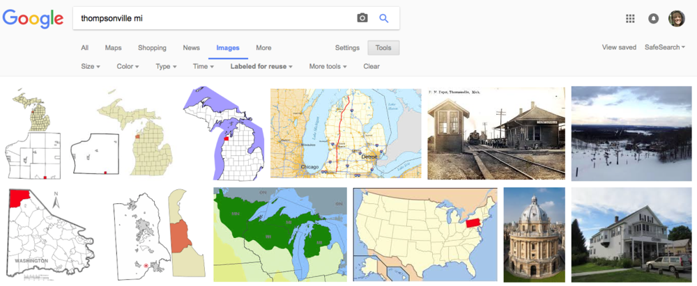 None of these are very meaningful or representative pictures of Thompsonville, MI. Some of them aren't even images of Thompsonville at all! (Source: Google)
