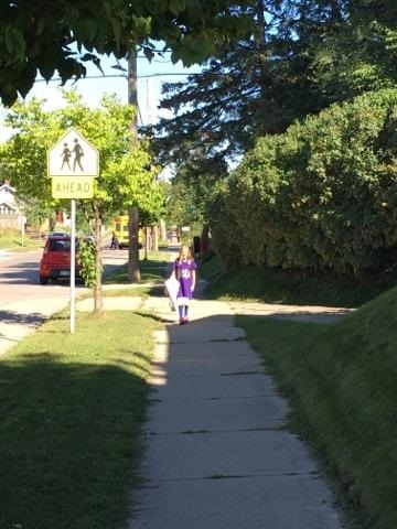 Walking to school (Source: Nikki Nafziger)