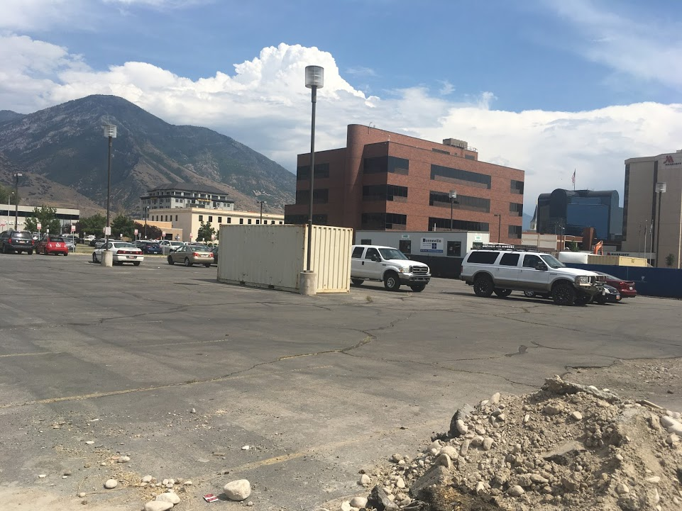 This entire lot is slated to become a massive parking garage. (Source: Jamie Littlefield)