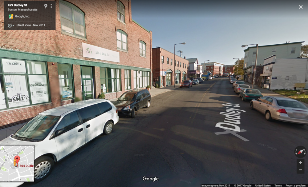 The Dudley Street Neighborhood Initiative has used a land-trust model to preserve a working-class neighborhood in modern-day Boston. Image Source: Google.