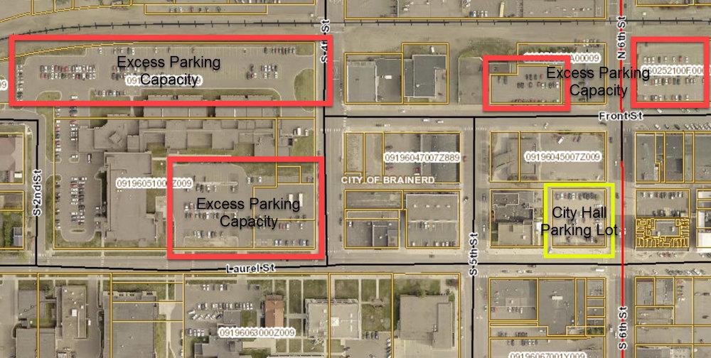 Excess parking dominates Brainerd