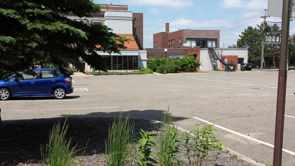 City Hall's parking lot (Source: Chuck Marohn)