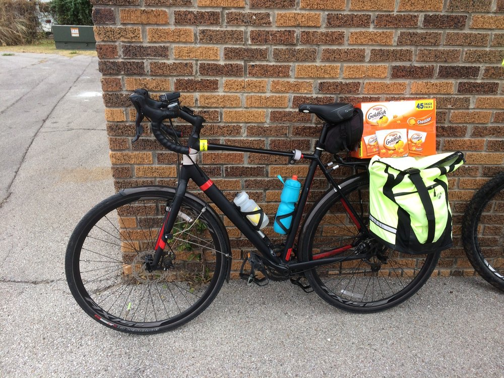 Panniers and a rear rack allow you to carry all kinds of cargo. (Photo by Sarah Kobos)