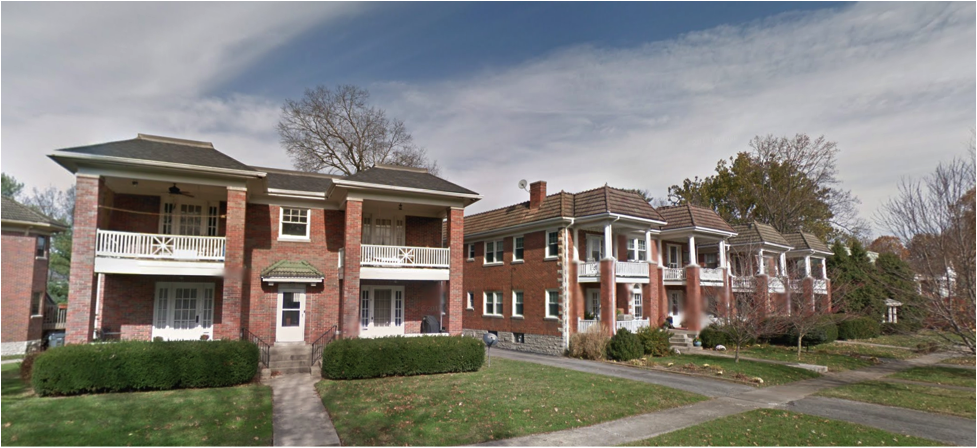 Four-unit apartments in Ashland. A humble source of dignified urban housing. Our current code treats it like a pest. (Source: Google Maps)