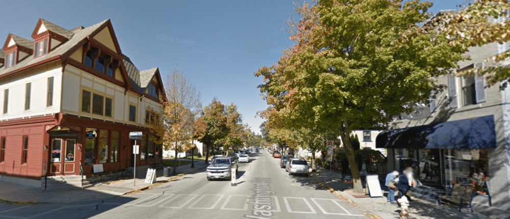 A people-oriented street in a historic town. (Source: Google Maps)