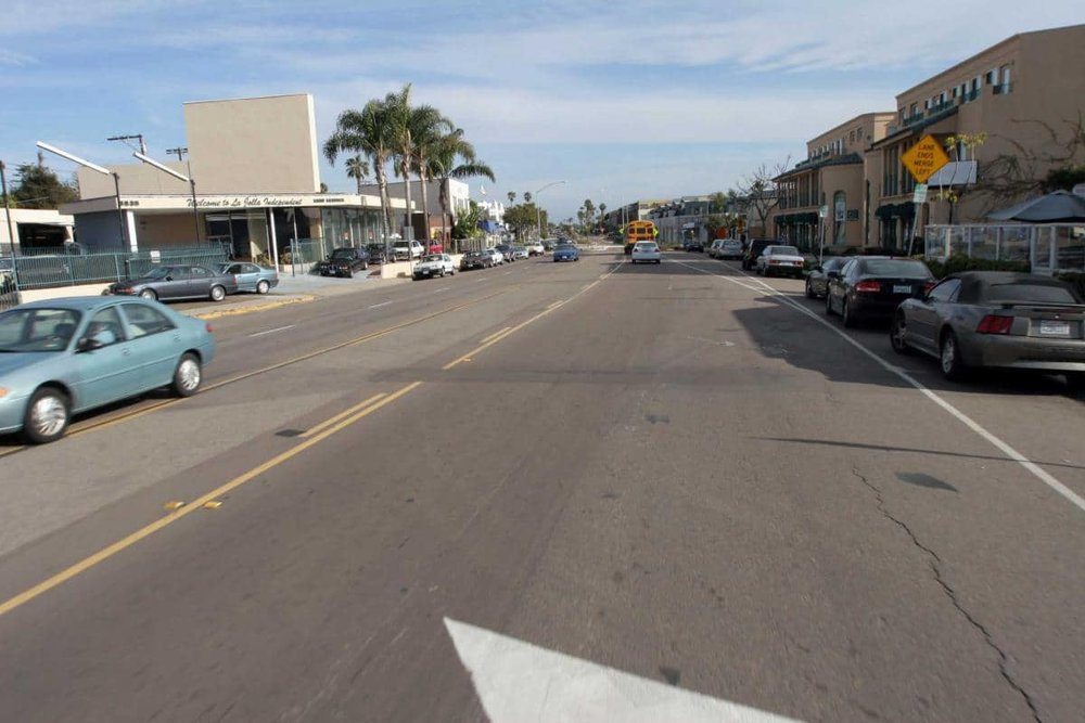 La Jolla Boulevard, Before