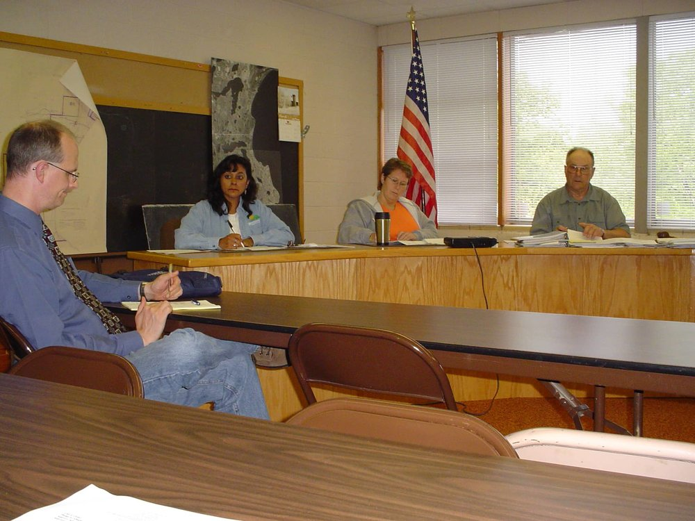 A city council meeting in Garrison, MN