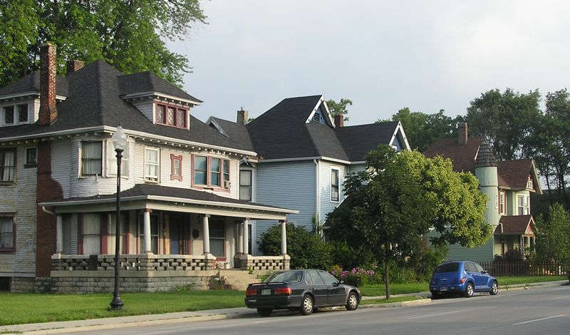 Historic homes on the North side of Indianapolis, where Fall Creek Place is located. (Source: Wikimedia Commons.)