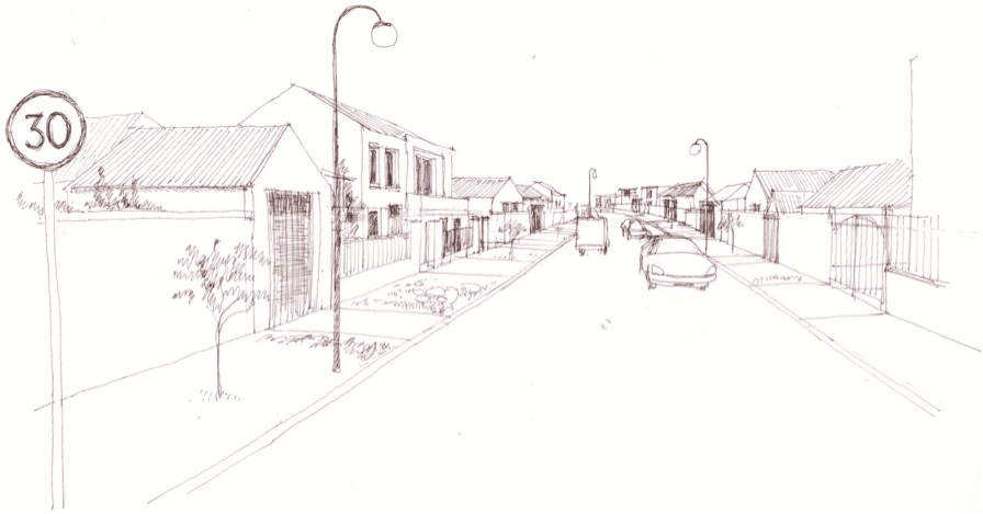 Figure 2 - a street that doesn't invite walking
