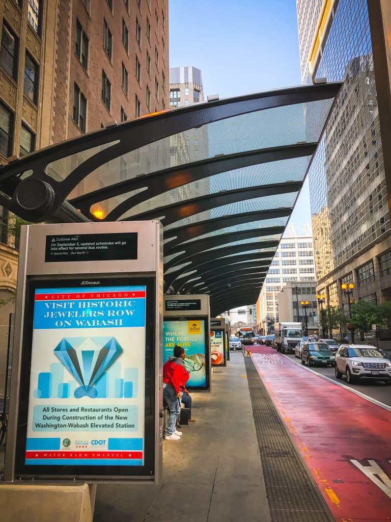 Chicago's new Bus Rapid Transit downtown