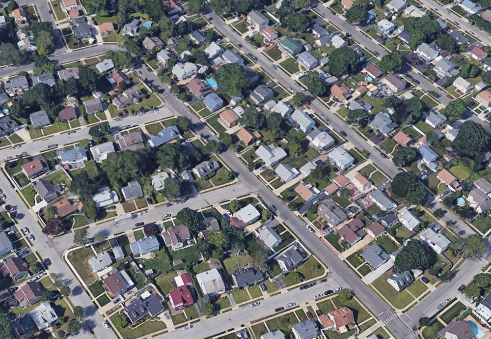 Aerial view of Levittown, New York. (Source:  Google Maps )