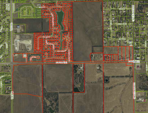 The Pawnee corridor comprises 510 acres of mostly undeveloped land, with some low-density housing development