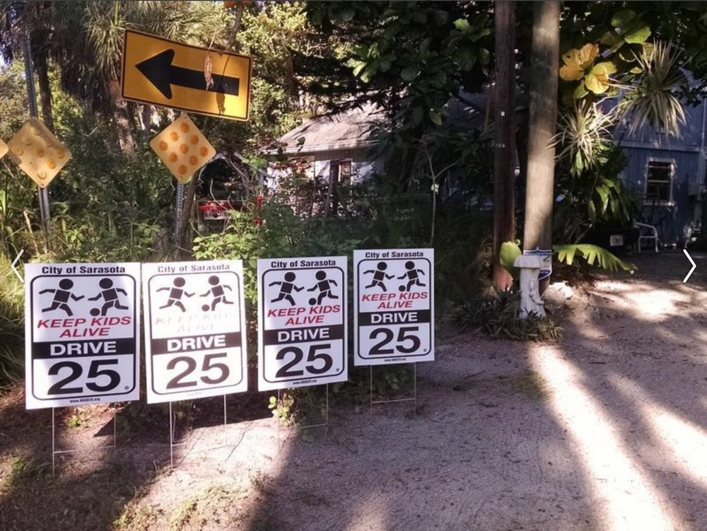 The signs are fine, but would we advocate for the same speed decreases in a neighborhood that wasn't ours?
