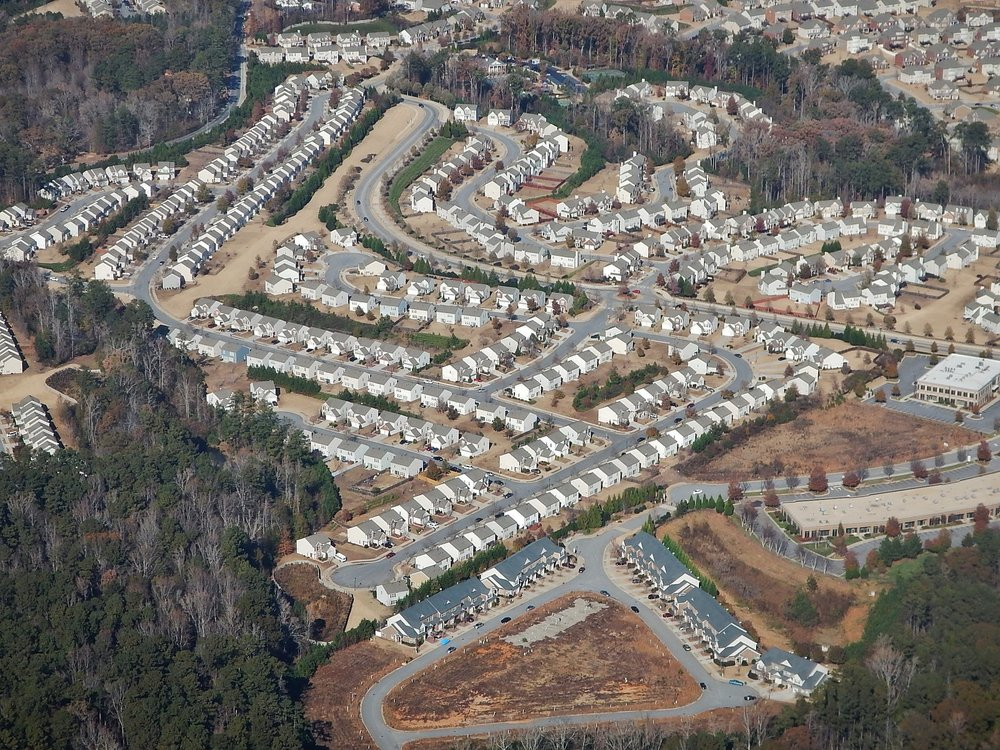 Suburban Atlanta (Source: Wikimedia Commons)