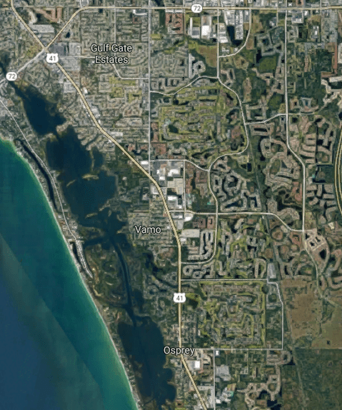 The Palmer Ranch region of Southwest Florida (Source: Google Maps)