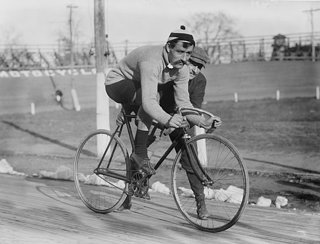 Velodrome biking in the old days