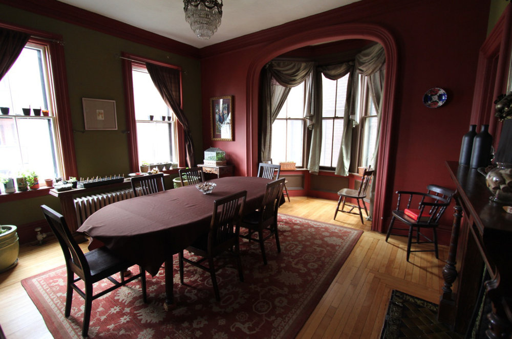 The restored dining room in Steve's house