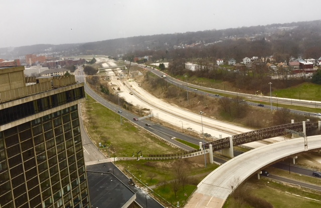 Most of the infamous Akron Innerbelt is being removed, to be repurposed for eventual mixed-use development. (Source: Mark Schweitzer