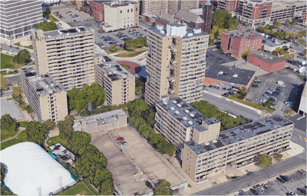 A public housing project in Rochester, NY