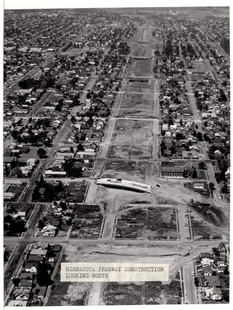 Over 300 homes were demolished along Minnesota Ave. (City of Portland Archives)