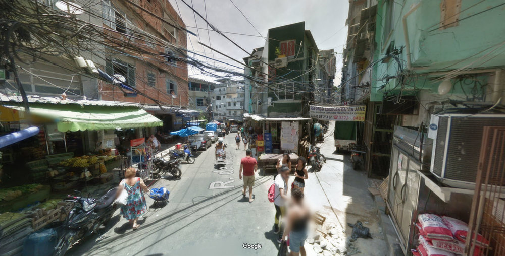 Rocinha , Rio de Janeiro, Brazil. These people are considered poor by first world standards. Why is our reaction to demolish their homes and prevent this kind of development? (Source:  Google Maps )