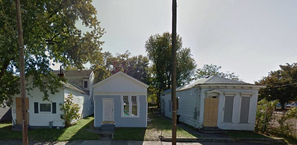 Shotgun houses in need of some love in the Portland neighborhood of Louisville