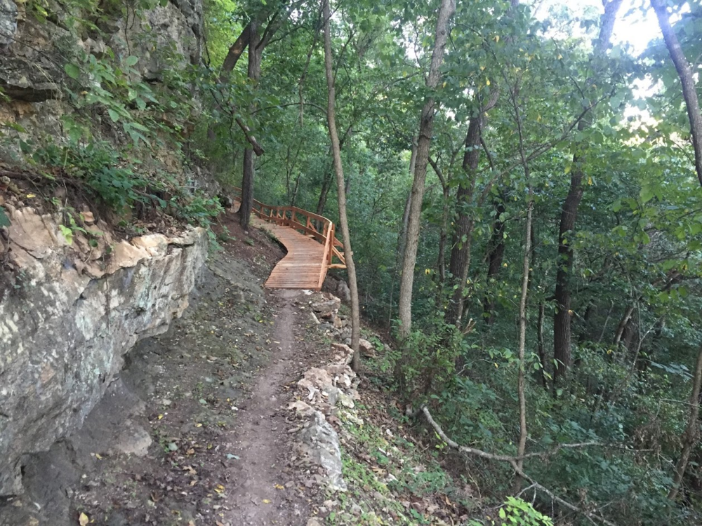 Bentonville trails are known for their wooden features and unique mix of surfaces. (Source: Craig Dieckman)