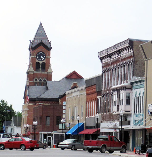 Washington (population 7,424 — up 154 since 2010) has restored its historic downtown square (Source:  Billwhittaker )