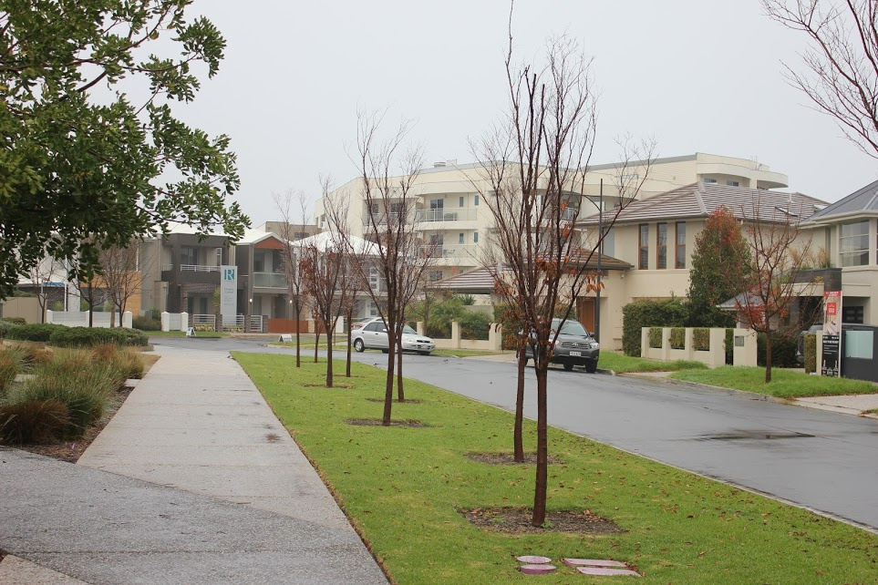 Newly built suburb in Australia. The trip to your neighbor's house is walkable, but nowhere else.
