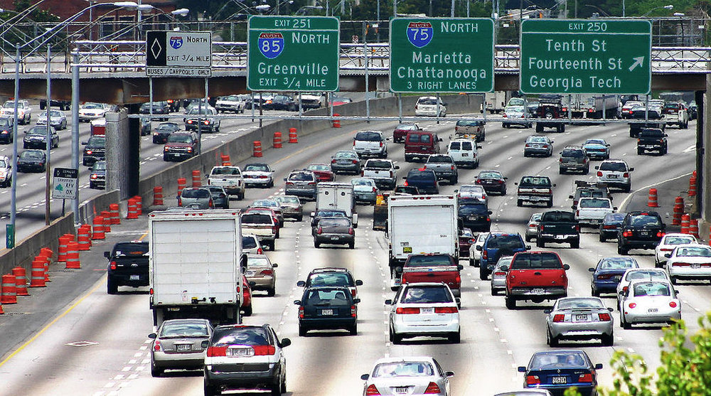 Atlanta area freeway traffic. Source: Flickr. Creative Commons license.