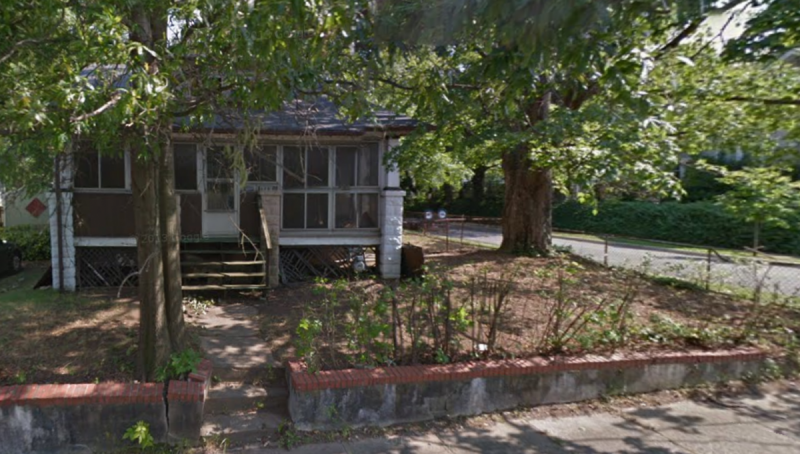 This slowly decaying bank-owned vacant home in Mount Rainier, MD is no one's favorite neighbor, unless you know  the Secret of NIMH . Screenshot from Google Street View by the author.