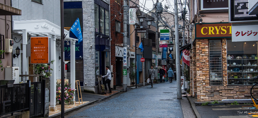 Motomachi Naka Street in Yokohama, Japan. This narrow street is a highly productive place where small, local businesses thrive, and a place whose physical form resists the imposition of top-down, grand designs in favor of a more emergent order. (Source: Ted McGrath via  Flickr. )