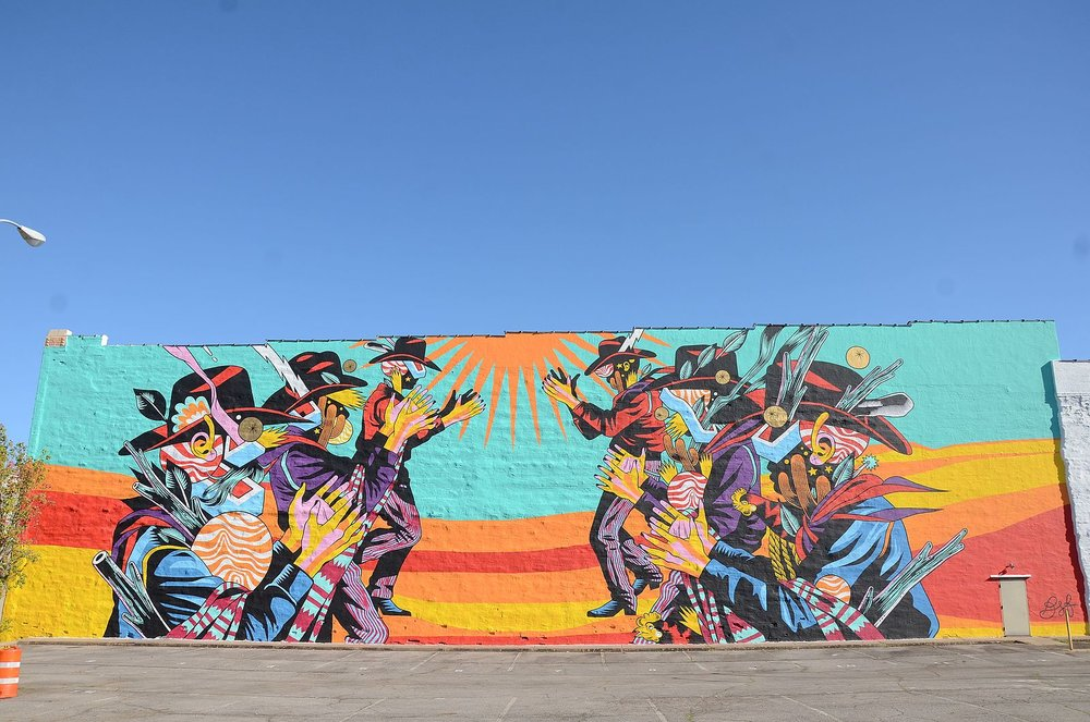 A mural painted as part of The Unexpected. (Source: Wikimedia Commons)